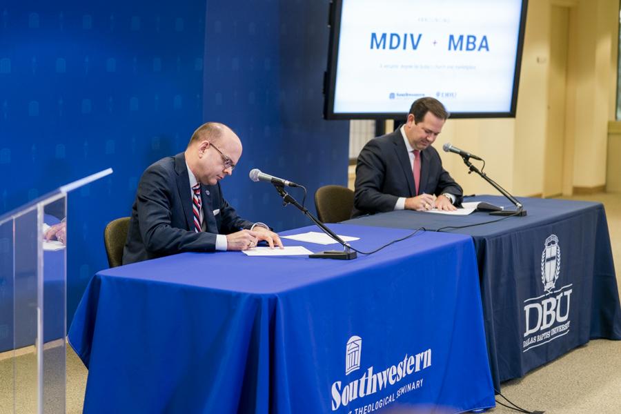 Southwestern Seminary, Dallas Baptist University announce joint MDiv/MBA degree