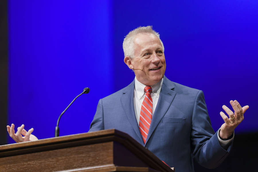 Engage in a 'transformational trust,' Brown preaches